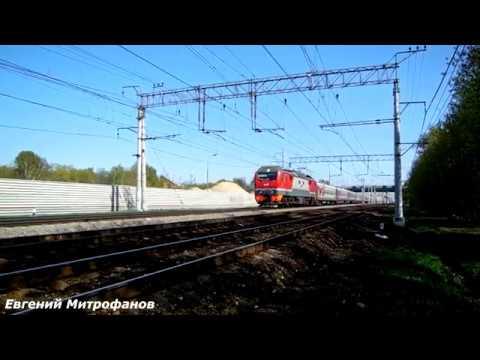 Электровоз ЭП2К-348 (ТЧЭ-33) со скорым поездом № 119Й, Саранск - Москва.