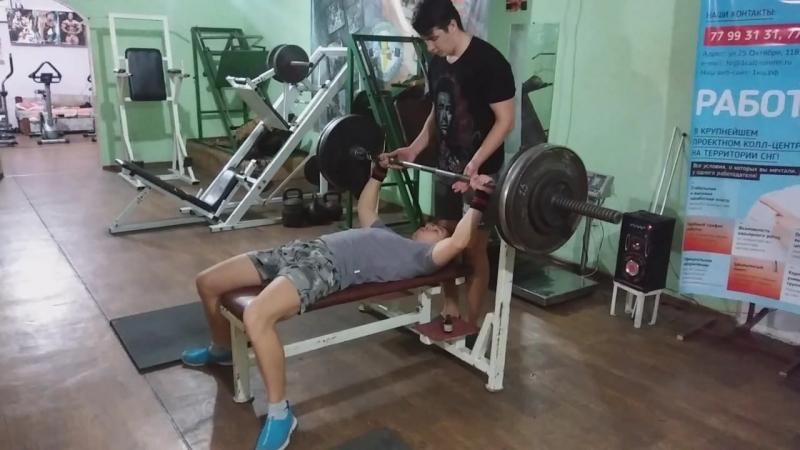 Бодак Сергей жим 135 кг вес 67 г Григориополь СК ТИТАН стаж после перерыва большого всего 4месяца