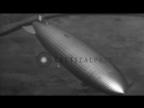 LZ 129 Hindenburg flies over New York City and over fields in New Jersey as seen ...HD Stock Footage