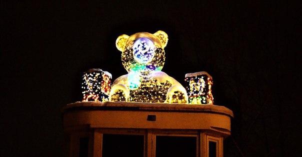 Мишка на пл. Пушкина #Иваново