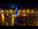 Зажжение новогодней ели на Софийской площади Великого Новгорода