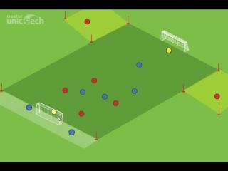 Футбольное упражнение Реал Мадрид