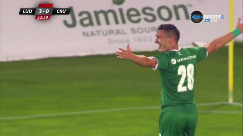 Лудогорец 7:0 Крусейдерс. 1-й квалификационный раунд. 1-й матч