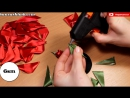 Роза Канзаши на Афинке мастер класс _ DIY Kanzashi Rose