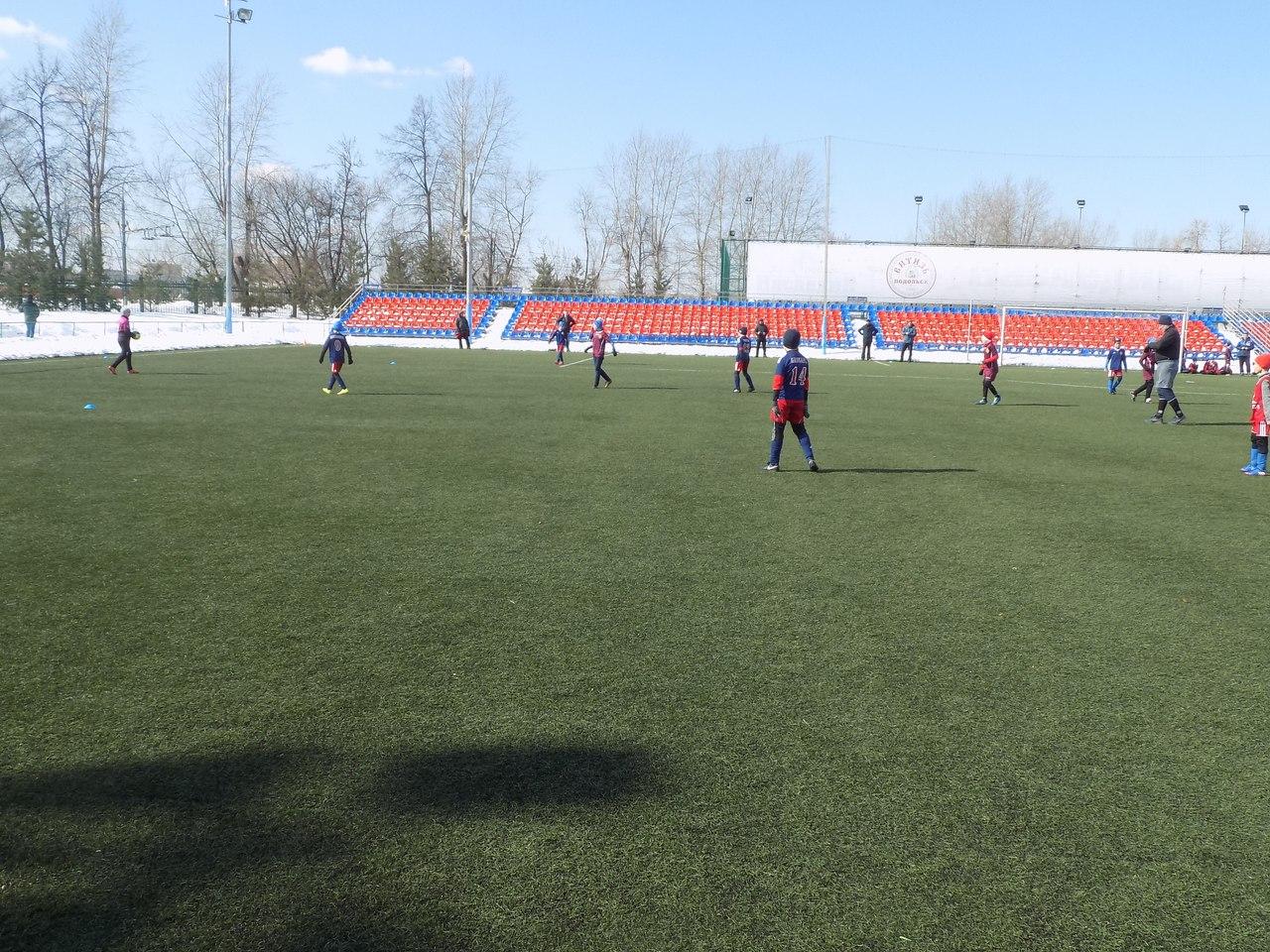 Итоги первого игрового дня турнира по футболу«Весенний Кубок Подольска-2018» среди детских команд 2008 г.р.