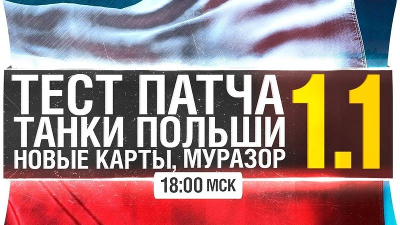 ТЕСТ ПАТЧА 1.1 - Танки польши, новые карты, Муразор worldoftanks wot танки — [wot-vod.ru]