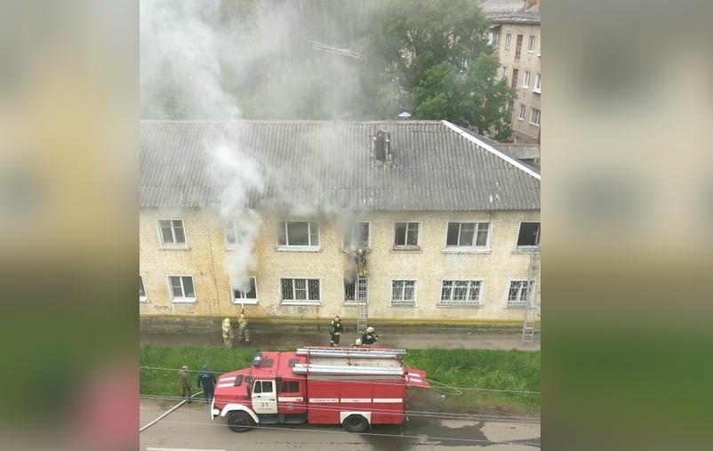 В Дядьково загорелся жилой дом на улице Дружная