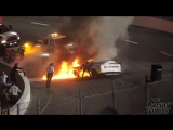 Mike Jones Late Model Crash and Fire (South Boston Speedway 6_16_18)