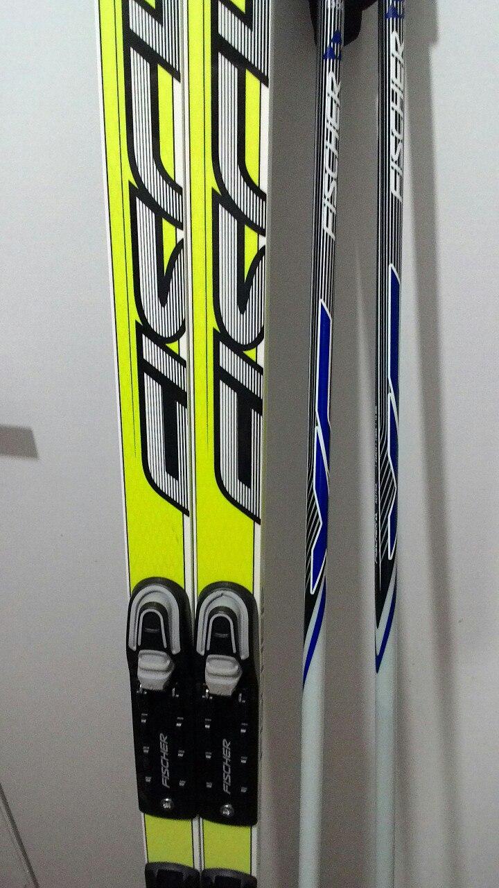 Комплект  беговые лыжи Fischer 202, палки 155, ботинки 42 ... e059820b577