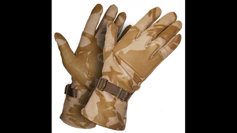 Тактические перчатки COMBAT Warm Leather Desert DPM