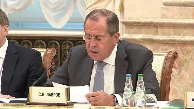 С.В.Лавров на заседании Высшего Государственного Совета Союзного государства России и Белоруссии