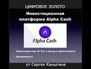 Альфа Кэш Вебинар Криптовалюта-цифровое золото Сергей Каныгин