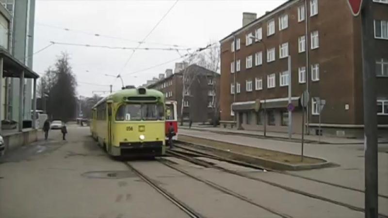 Трамваи РВЗ-6 и КТМ-5 в Даугавпилсе (Март 2014 года). Часть 1