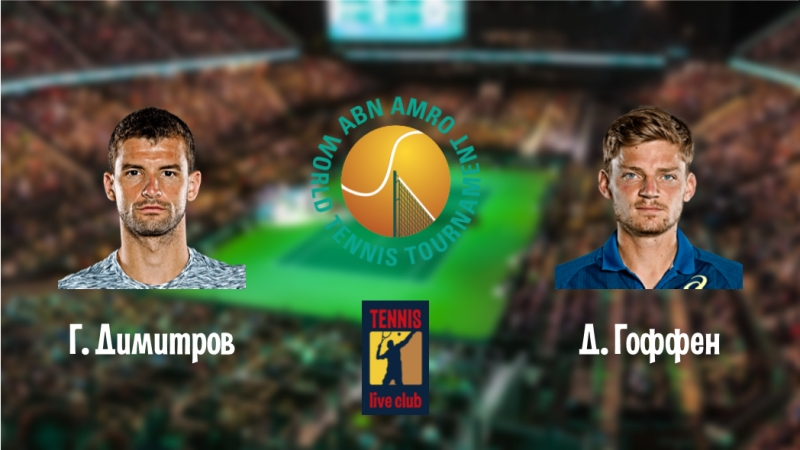 ABN AMRO World Tennis Tournament. Г. Димитров - Д. Гоффен. Полуфинал.