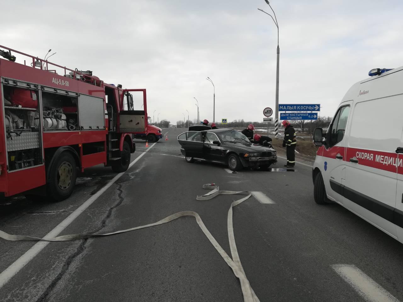 Из-за крупного ДТП на трассе М1 под Брестом у д. Тельмы частично ограничено движение