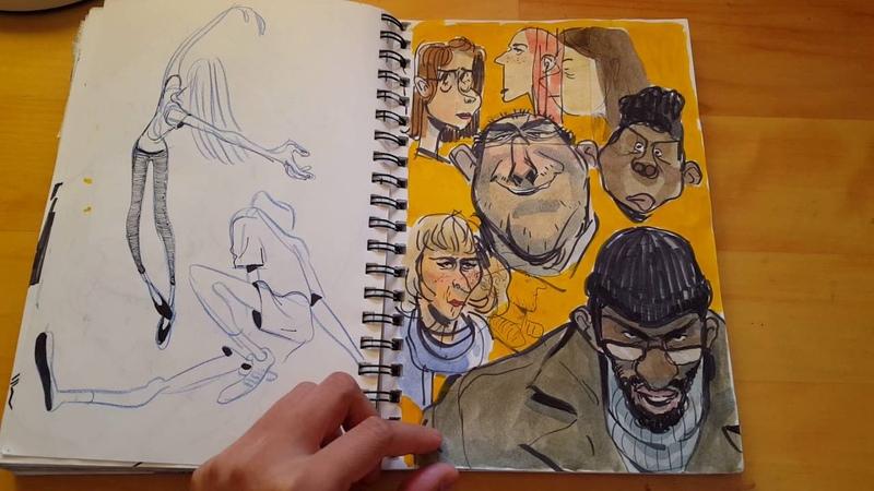 Calarts accepted sketchbook 2016... dude