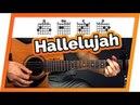 Hallelujah - Jeff Buckley - Guitar Tutorial (Lesson) For Beginners