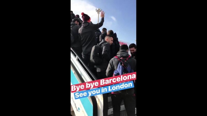 Барселона отправилась в Лондон