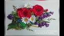 Вышивка для начинающих Колокольчик из лент от Светланы Embroidery Ribbons