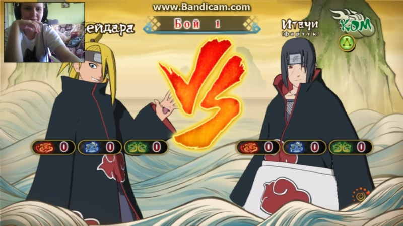 Дейдара снова разносит всех то в право, то влево/naruto shippuden ultimale ninja storm revolution.