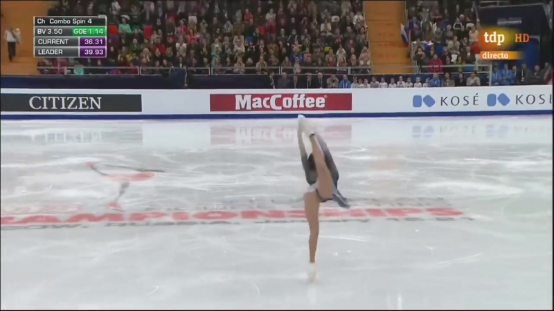 Evgenia Medvedeva. 2018 European Championships. SP Spanish htd