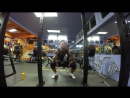 Squat with a safe barbell 190kg/419lb 5 sets 5 reps with support Bear gear