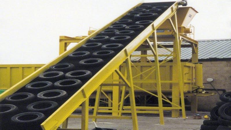 Amazing Power Full Ecycling Truck Tire Machine Working - Lates Technology Making Tire