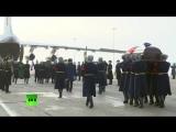Церемония прощания с погибшим в Сирии лётчиком майором Романом Филиповым