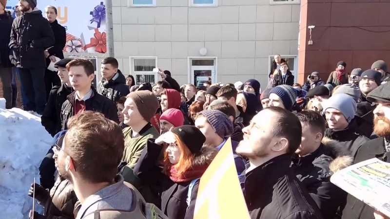 Навальный отклонил! идею сменить ИМЯ жены, выставить её вместо себя и победить на выборах! Барнаул 20.03.2017 (за чем?)
