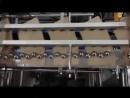 видео линия нанесения клеевой полосы загатовку