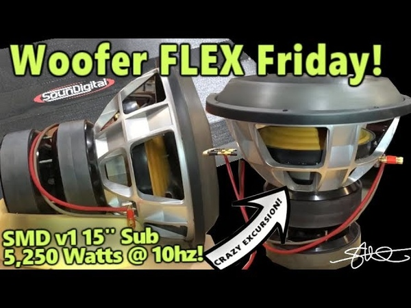 INSANE Peak to Peak Low Frequency Excursion SMD v1 15 Subwoofer - 5000 Watts at 10HZ!