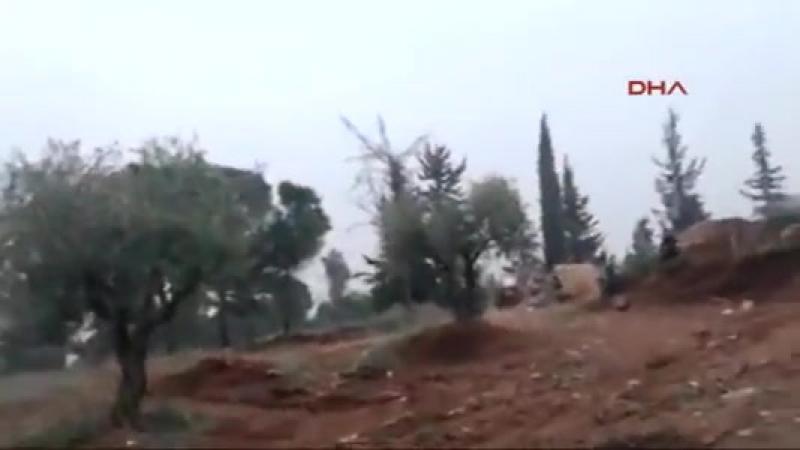 Отступление турецкой армии и боевиков умеренной оппозиции с горы Берсая, Африн