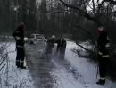 В Светлогорском районе в пойме Березины под лед провалился Jeep Grand Cherokee.