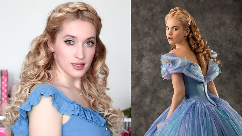 Cinderella hair tutorial for Christmas holidays, New Year party ♥ Hairstyle for long hair