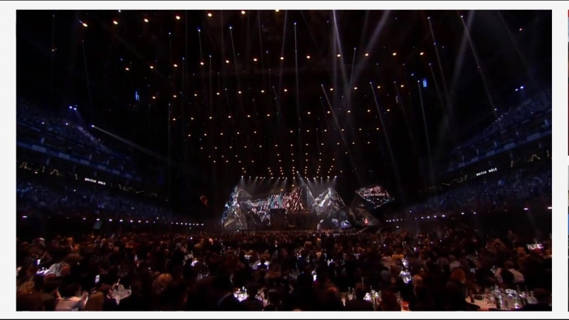 Hutchcraft with Calvin Harris on Brit Awards 2018, 21 February, London O2