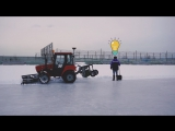 Новый год в «Енисее». Работа со снегом