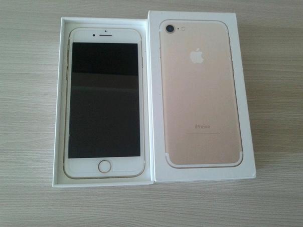 iPhone 7, gold, 128 gb памяти Комплект полный, экран в идеале, все рабочее 27000р