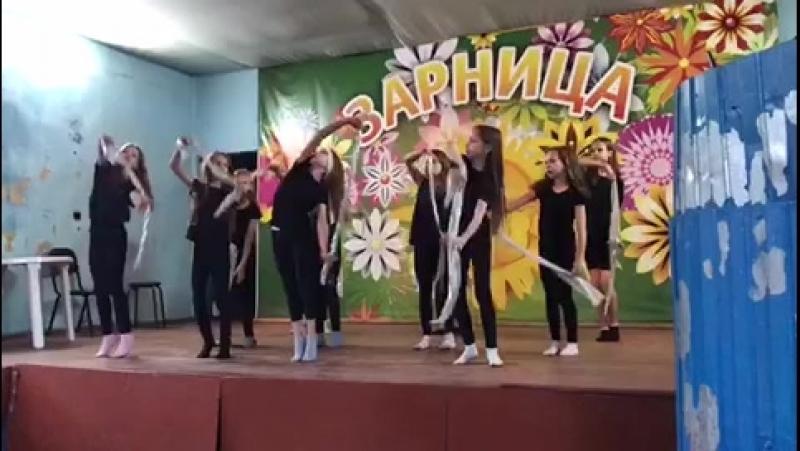 Танец в лагере ноченька