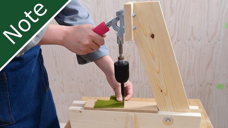 レザークラフトに最適!製作費3,000円の菱目打ち機の作り方~Make a rhyming machine(arbor press
