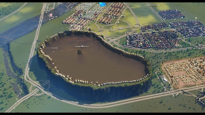 Cities Skylines - Building Large Sewage Lake Fill Sewage in it