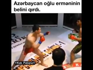 azeri aglu erməninin belini qırdı