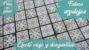 Cómo hacer falsos azulejos con efecto viejo y desgastado RECICLAJE CREATIVO