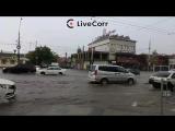 Улицы Краснодара снова ушли под воду после очередного ливня - live