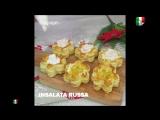 Piccoli fiorellini di pasta sfoglia con cuore cremoso
