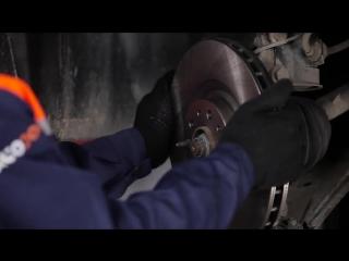 Fiat Doblo 2 (Фиат Долбо 2) замена передних тормозных колодок и дисков