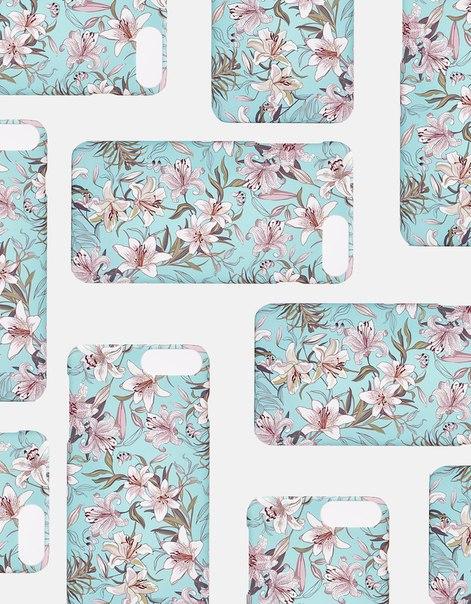 Чехол с цветочным узором для iPhone 5/5s