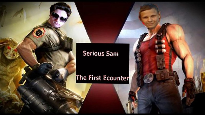 Прохождение Serious Sam The First Encounter Co-op часть 1 (Взрывной Украинец и летающий Механоид!)
