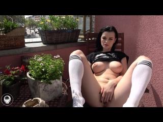 Alissa noir - tättowierte brünette (1080p) [amateur, gothic girl, solo, masturbation, big dildo, public, toys, big boobs]
