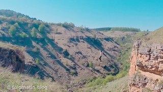 Хожу по стропе между скал. 40 метров. Кисловодск