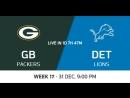 NFL 2017-2018 / Week 17 / Green Bay Packers - Detroit Lions / CG / EN